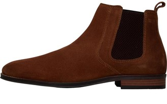 Onfire Mens Suede Chelsea Boots Tobacco Brown