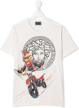 Versace Medusa logo crew neck T-shirt