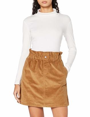 Noisy May Women's NMJUDO HW Paperbag Corduroy Skirt BG S