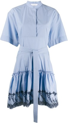Chloé Embroidered Shirt Dress