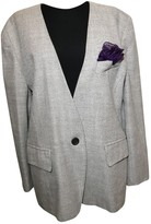 Escada Grey Wool Jacket for Women
