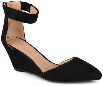 Journee Collection Kova Ankle Strap Wedge Pump