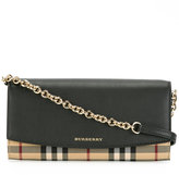 Burberry house check shoulder bag - women - Calf Leather/Polyamide/Polyester - One Size