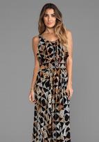 Indah Zanzibar Flounce Cut Out Maxi Dress