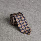 Burberry Modern Cut Check and Equestrian Knight Silk Tie