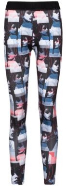 HUGO BOSS Extra-slim-fit jersey leggings with graphic print