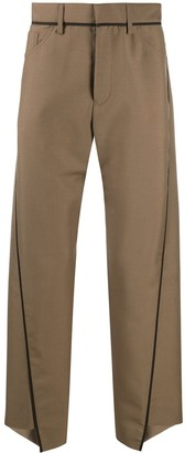 Lanvin Asymmetrical Seam Trousers