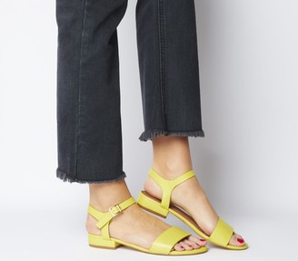 Office Snap Two Part Sandals Yellow