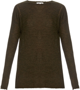 Helmut Lang Frayed ribbed-knit wool sweater