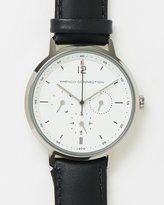 French Connection 39mm Leather Strap Watch