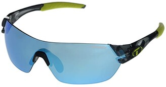 Tifosi Optics Slice (Crystal Smoke Frame Clarion Blue/AC Red/Clear Lenses) Sport Sunglasses