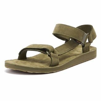 Teva Men's Original Universal -Leather Open Toe Sandals Green (Burnt Olive Btol) 10 UK ( 44.5 EU )