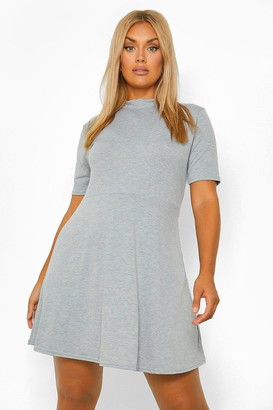 boohoo Plus Jersey High Neck Shift Dress