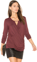 Krisa Ruched Surplice Top