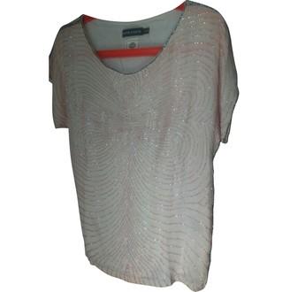 Antik Batik Ecru Silk Top for Women