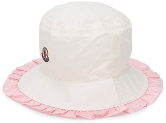 Moncler Enfant Ruffled Brim Sun Hat