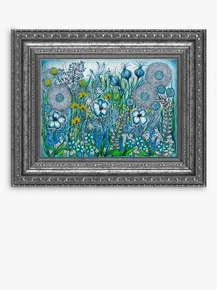 YARDART - Helen Lynch 'Secret Garden' Outdoor Framed Print, 58.5 x 73cm, Green/Blue