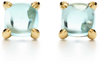 Tiffany & Co. Paloma's Sugar Stacks earrings in 18k gold with blue topaz