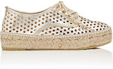 Loeffler Randall Women's Alfie Perforated Leather Espadrille Sneakers