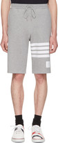 Thom Browne Grey Classic Four Bar Lounge Shorts