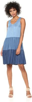 Karen Kane Women's Tiered Chambray Dress