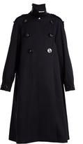 Dolce & Gabbana Oversized Love-embellished cotton-piqué coat