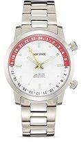Jack Spade Men's Clarkson White Watch, Silver, One Size