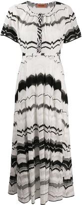 Missoni geometric-pattern flared dress