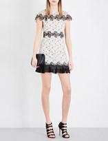 Sandro Peplum-hem lace dress