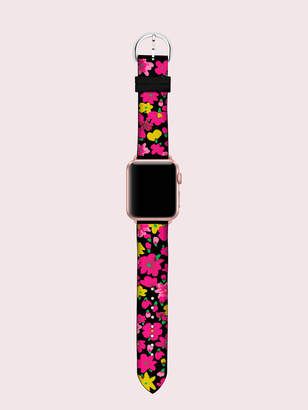Kate Spade black floral silicone 38/40mm apple watch strap