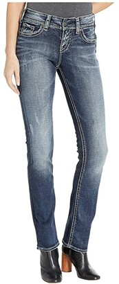 Silver Jeans Co. Suki Mid-Rise Well Defined Curve Mid Straight Jeans in Indigo L93413SDI349 (Indigo) Women's Jeans