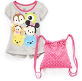 Children's Apparel Network Disney Tsum Tsum Tee & Backpack - Girls