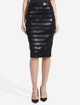 The Limited High Waist Ponte Sequin Stripe Pencil Skirt