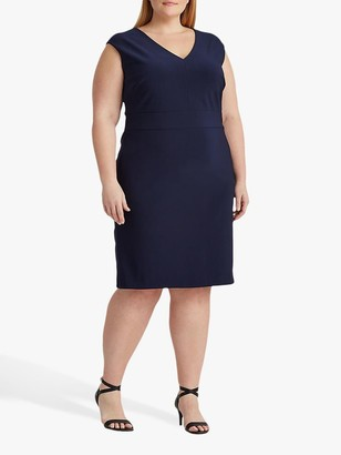 Ralph Lauren Ralph Curve Janette Capped Sleeve Dress, Lighthouse Navy