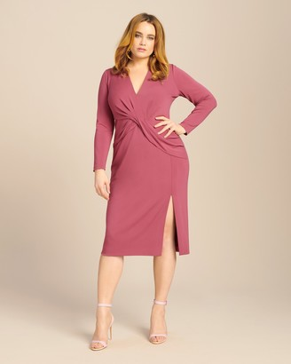Cushnie Long Sleeved Plunging Dress with Twist Detail