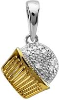 DazzlingRock Collection 0.25 Carat (ctw) 14k White Gold Round Diamond Ladies Cross Pendant