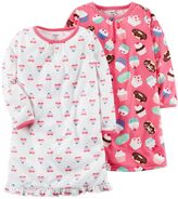 Carter's Girls 4-14 2-pk. Hearts & Sweets Nightgowns