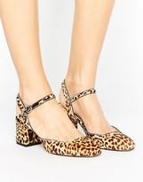 MANGO Animal Two Part Block Heel