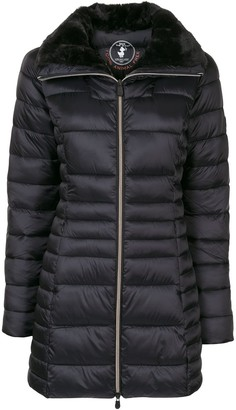 Save The Duck Synthetic Fur Reversible Long Quilted Jacket