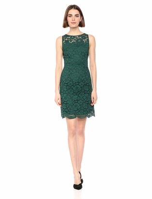 Lark & Ro Amazon Brand Women's Sleeveless Crew Neck Lace Sheath Dress