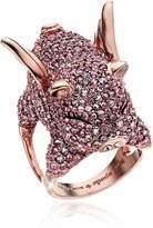 Kate Spade Pink Pave Pig Ring, Size 7