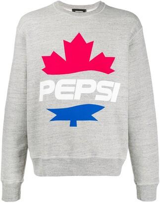 DSQUARED2 #D2XPepsi logo print sweatshirt
