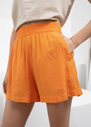 And other stories High Waisted Elasticated Shorts