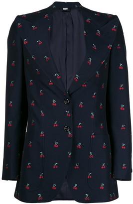 Gucci Cherry fil coupe wool jacket