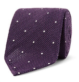 Drakes Drake's - 8cm Polka-Dot Wool and Silk-Blend Tie