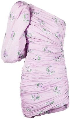 Giuseppe di Morabito Balloon-Sleeve Asymmetrical Dress