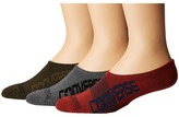 Converse 3-Pair Pack Made for Chuck Bold Logo Men's No Show Socks Shoes
