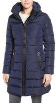 MICHAEL Michael Kors Women's Quilted Down & Feather Fill Coat With Hidden Hood