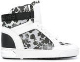 MICHAEL Michael Kors floral hi-top sneakers - women - Cotton/Leather/Polyurethane/rubber - 5.5
