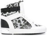 MICHAEL Michael Kors floral hi-top sneakers - women - Cotton/Leather/Polyurethane/rubber - 6.5
